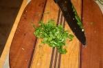 Mince herbs